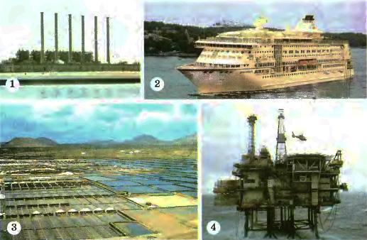 Органический мир природные ресурсы и экологические проблемы  Хозяйственное освоение океана Завод по опреснению морской воды на Аравийском полуострове 1 Пассажирское судно в Атлантике 2