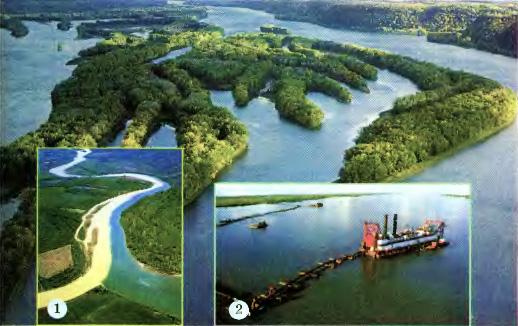 Реки Северной Америки География Реферат доклад сообщение  Миссисипи Слияние двух рек 1 Углубление фарватера 2