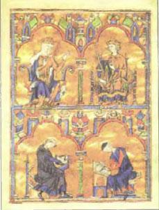 Христианство и культура в Средние века История Реферат доклад  Монахи переписчики книг Средневековый рисунок