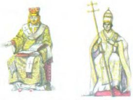 Раскол христианства в Средние века История Реферат доклад  Патриарх в парадном облачении Римский Папа в парадном облачении