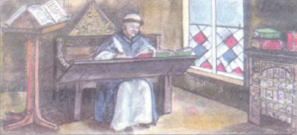 Средневековые монастыри История Реферат доклад сообщение  Монах переписчик книг