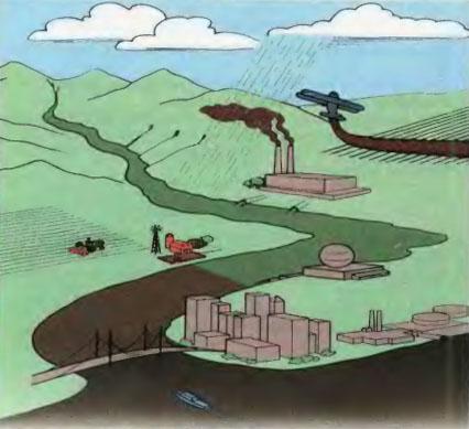 Влияние деятельности человека на гидросферу Биология Реферат  Рис 129 Загрязнение гидросферы